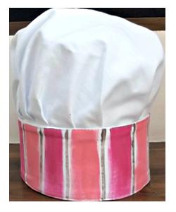 56C0F2 chapéu chef infantil rosa 2