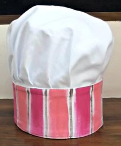 56C0F2 chapéu chef infantil rosa