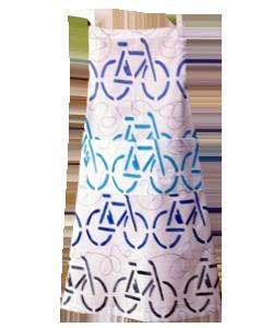 57B7A3 avental adulto bike azul