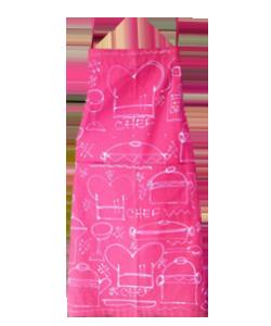 78CB87 avental adulto chef rosa