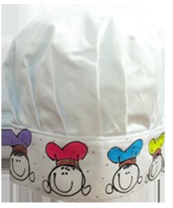 82DBAB chapéu chef intantil meninas