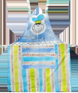 90C46A avental infantil chef listrado