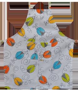 90F314 avental infantil joaninha colorida