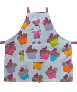 90F3CA avental infantil cup cake meninas