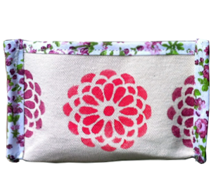 93CE2B caixa organizadora floral rosa