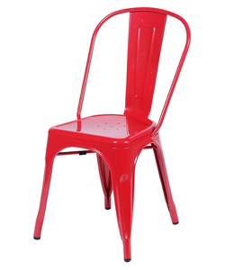Cadeira Industrial vermelha