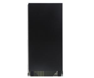 armário baixo branco porta preta frente