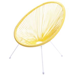 cadeira corda amarela