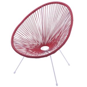 cadeira corda vermelha