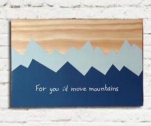 quadro madeira pinus move mountains