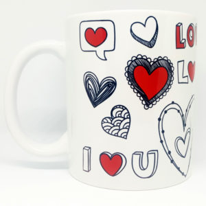 Caneca Love Coracoes