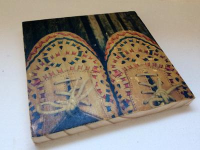 quadro foto em madeira shoes quadro detalhe