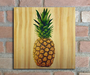 quadro madeira pinus abacaxi