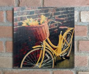 quadro madeira pinus bike amarela