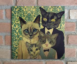 quadro madeira pinus gato familia