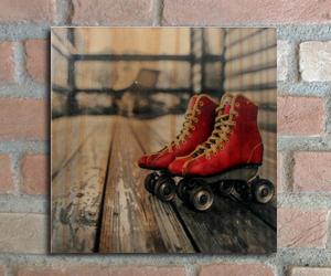 quadro madeira pinus patins