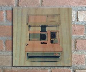 quadro madeira pinus polaroid