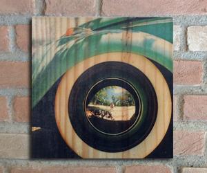 quadro madeira pinus roda fusca