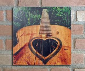 quadro madeira pinus violão