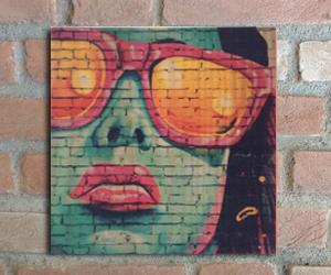 quadro madeira pinus grafitte glasses