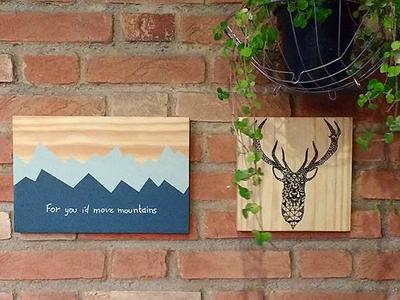 quadros madeira decorados